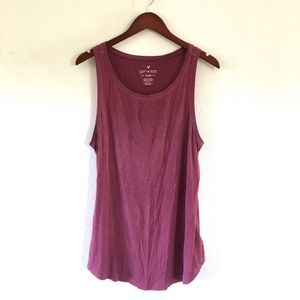American Eagle Mauve Soft and Sexy Tank